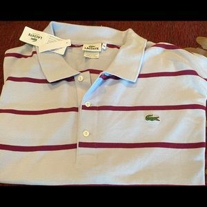 Men Big and Tall Lacoste Button Down Shirt